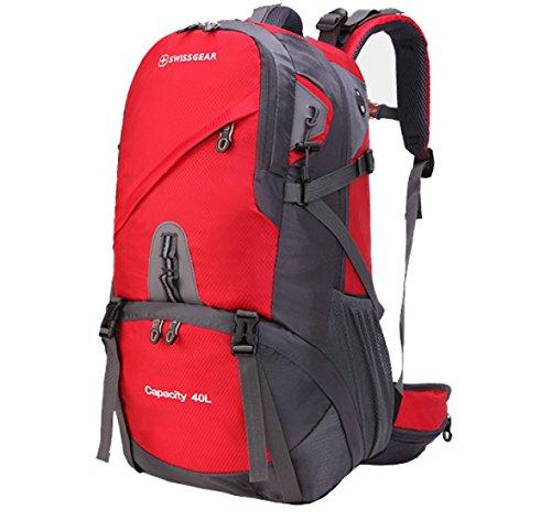BULAGE Taschen Wandern Bergsteigen Freizeit Natur Reisen Camping Backpacking Mit Hohen Kapazität Wasserdicht Taschen Studenten Sport Red