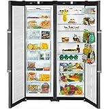 Liebherr SBSbs 7263 Premium - frigos américains (Autonome, Acier inoxydable, Américain, A++, LED, SN-T)