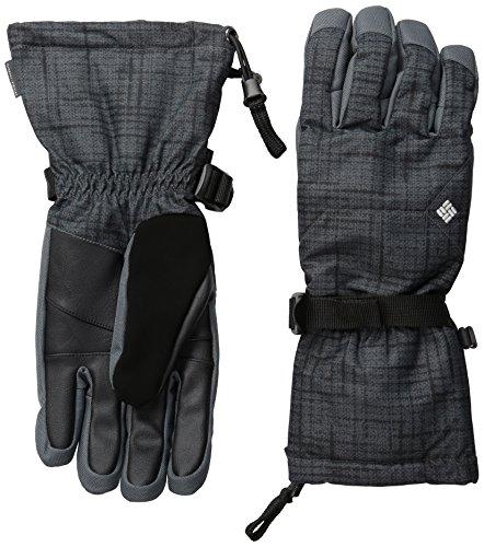 Columbia Herren Whirli Bird Performance Handschuhe M Black Tweed Plaid Print (Plaid Ski-handschuhe)