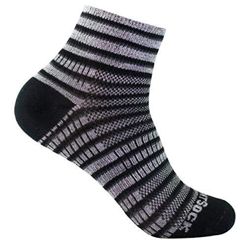 Wrightsock Coolmesh II Quarter Socke Black White Grey 41.5-45 -
