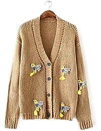 Ladies Nueva elegante Cardigan Sweater Coat