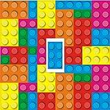 T00014-Art LEGO BRICKS Lichtschalter Abdeckung Aufkleber Vinyl, HD, Für Kinderzimmer/Spielzimmer