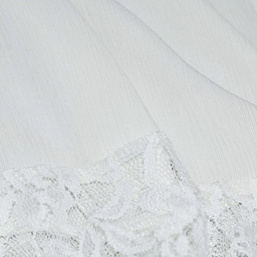 Bluestercool Femmes T-shirt en Sans manches en Mousseline de soie Dentelle Tops Décontractés Blanc