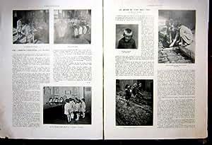 Impression 1934 de Français d'École de Jeux d'Orphelin de la France d'Enfants