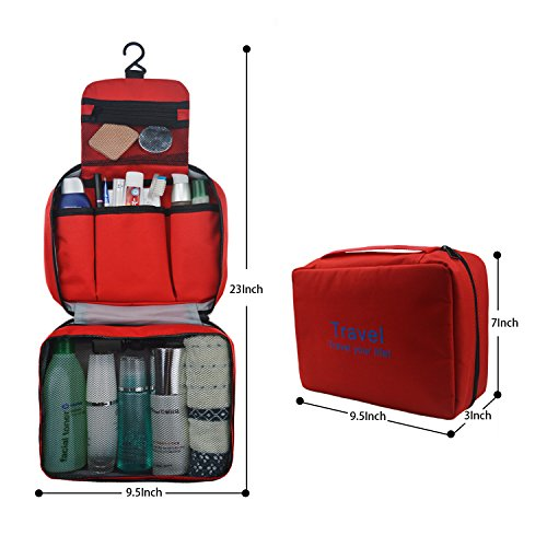 Refoss Borsa da toilette Beauty Case Borsetta da Viaggio Wash bag Organizzare borsa Impermeabile Borsa per cosmetici per il campeggio, viaggio, famiglia Blue