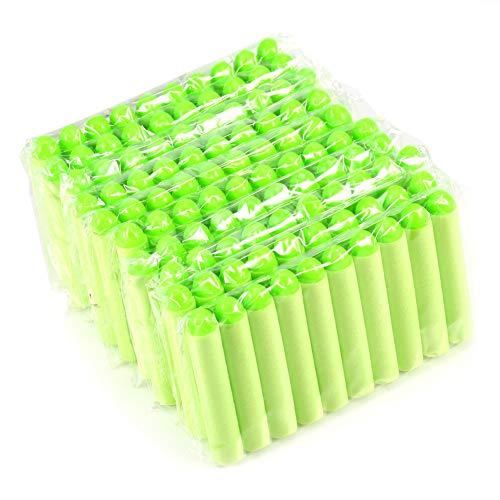 Yosoo 100Stück 7,2cm Laden von Munition Dart Schäume, für die Spieler Kinder von Nerf Zombie-Strike Serie Elite Pistole, grün