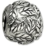Carlo BIAGI Bead 925 Silber Blätterkugel Armband Anhänger BBS177