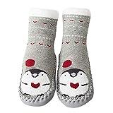 Amphia - (0M-30M Babykleinkindsockenschuhe - dicke rutschfeste Bodensocken, KarikaturdrucksockenNeugeborenes Baby-Jungen-Mädchen-Karikatur-nette warme Fußbodensocken Anti-Rutsch-Baby-Schritt-Socken