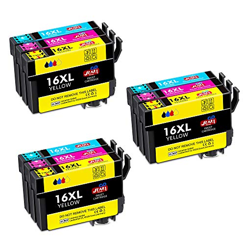 JIMIGO 16XL Alta Capacidad Cartuchos Tinta Epson 16,Compatible