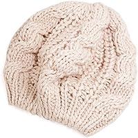 Gleader Berretto Basco in maglia intrecciata in beige inverno da donna 7710a51556f1