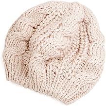 Gleader Berretto Basco in maglia intrecciata in beige inverno da donna 3e3139f9ba98