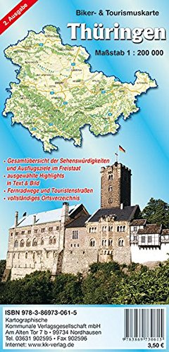 Thüringen: Biker- & Tourismuskarte