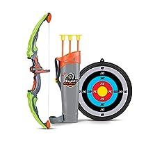 SainSmart Jr. Jeux de tir Ensemble de tir à l'arc Archery Set with Bow,Arrow,Quiver,Target, vert