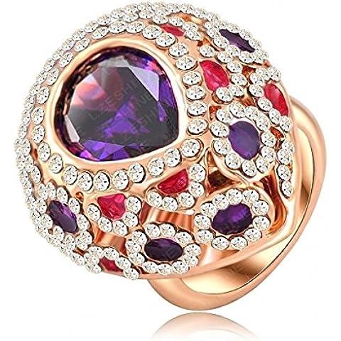Alimab Gioielli Donne signore anelli di fidanzamento anelli di nozze amore anelli gocce d'acqua oro anelli placcati in oro