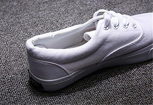 Wealsex damen Unisex canvas Sneaker Weiß Q