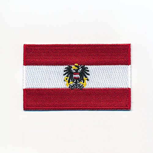 0949 A, Austrian Vienna Flag Sew-On Badge / Iron-On for sale  Delivered anywhere in UK