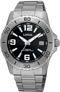 Lorus RXH21JX9 Reloj de Caballero movimiento de cuarzo con brazalete metálico Negro de Relojitos EUROMEDITERRÁNEA