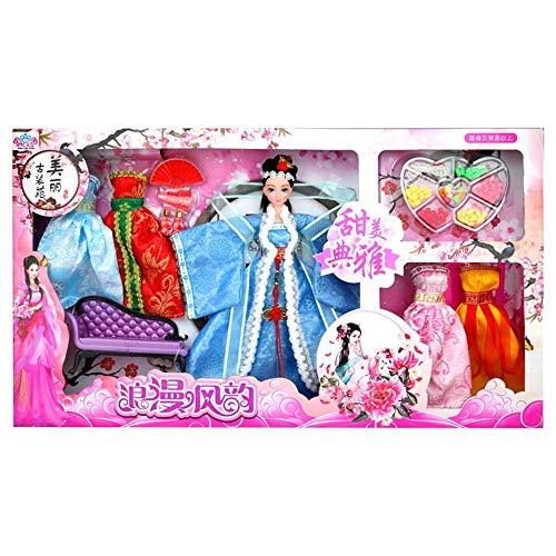 (Geburtstag Weihnachtsgeschenke Chinesische Alte Puppen Vier Schönheit Chinesischen Stil Klassische Hanfu Kostüm Kleid Puppe Geschenkbox Mädchen kinder DIY Spielzeug (Stil : 3(Xi Shi)))