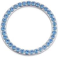 Auto Interno tasto accensione motore Start Stop pulsante decorativo diamante anello