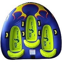 OSTOUTDOOR, Flaming V - Tubo de esquí con Asiento de 3 Personas, Resistente PVC y Cubierta de Nailon con Asiento de Espuma EVA