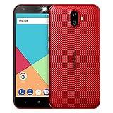 Ulefone S7 3G smartphone ohne vertrag günstig android 7.0 5,0 Zoll HD 1280x720P MTK6580 1.3GHz Quad Core Dual SIM 1GB RAM+8GB ROM 128GB TF Karte Kapazität 8MP+5MP+5MP Kameras(Rot)