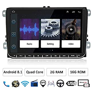 LEXXSON-Android-81-Autoradio-fr-VW-Passat-Golf-5-MK-6-Jetta-T5-EOS-POLO-Touran-Seat-Sharan-9-Zoll-Touchscreen-Autoradio-GPS-Navi-Bluetooth-mit-CanBus-Untersttzt-AMFM-DAB-USB-MirrorLink