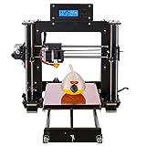 Officeink 3D Drucker Prusa I3 Desktop 3D Drucker Kit LCD Display 3D Modell für hohe Genauigkeit und schnelles Drucken (100mm/s) 1.75mm ABS PLA 3D Printer Bausatz (I3 3D Drucker)