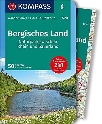 KOMPASS Wanderführer Bergisches Land, Naturpark zwischen Rhein und Sauerland: Wanderführer mit Extra-Tourenkarte 1:75.000, 50 Touren, GPX-Daten zum Download: Wandelgids met overzichtskaart
