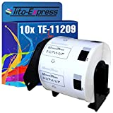 PlatinumSerie® 10x Etiketten mit Trägerspule XXL für Brother P-Touch DK-11209 62mm x 29mm 800 Labels QL-500 QL-500A QL-500BS QL-500BW QL-550 QL-560 QL-560VP QL-570 QL-580N QL-650TD QL-580N QL-650TD