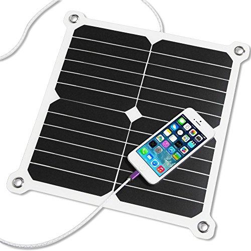 SUNKINGDOM 13W 5V Sunpower Cargador Solar Portátil Panel Solar (Dual USB y PowermaxIQ Technology)