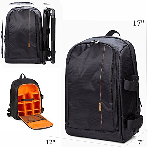 LARGE DSLR SLR Kamera Rucksack Rucksack Tasche Fall Orange