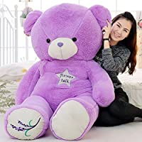 KMNHFGDB Plush Teddy Bear Doll Purple Lavender Big Hug Bear 45Cm A