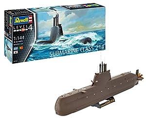 Revell- Maqueta Submarino Class 214, Kit Modello Escala 1:144 (5153) (05153), 45,5 cm de Largo (