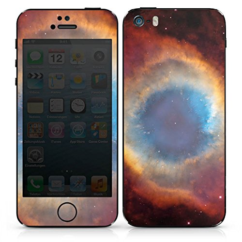 Apple iPhone SE Case Skin Sticker aus Vinyl-Folie Aufkleber Space Galaxy Helix Nebel DesignSkins® glänzend