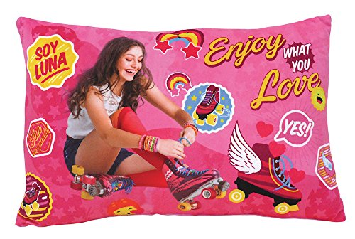 FUN HOUSE 712711 Soy Luna Coussin Rectangulaire Polyester Rose 40 x 5 x 22 cm