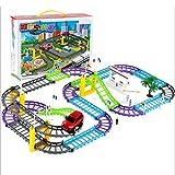 Elektrische Eisenbahn-Eisenbahnwaggons Kinder Spielzeug Set Rennstrecke Junge Auto Spielzeug 3-12 Jungen