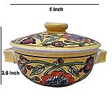 Cuenco para servir con tapa, cerámica, hecho a mano, de