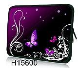 Funky 10,1-10,2 Zoll Tablet Hülle, Laptoptasche - Zoll Fall Neopren für Notebooks Dell HP MacBook Samsung Apple Toshiba (Purple Butterflies)