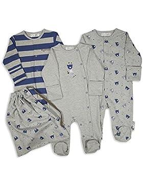 The Essential One - Baby Jungen Schlafanzuge/Schlafanzug/Einteiler/langarmeliger Body/Strampler (3-er Pack) -...