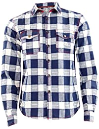 New Mens Jacksouth Quality Flannel Lumber Jack Casual 100% Cotton Work Shirt
