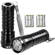 LE 2er Set Superhelle LED Taschenlampe, 14 LED, inklusive 6 AAA-Batterien, Camping Handlampe