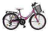 24 ZOLL Kinder Fahrrad Kinderfahrrad Cityfahrrad Citybike Mädchenfahrrad Bike VOLTAGE LADY PINK