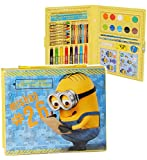 Unbekannt 52 TLG. Set __ Stifte-Koffer - Minions  Ich einfach unverbesserlich  - Malkoffer mit Stiften + Filzstifte + Buntstifte + Wasser Farben + Wachsmal Farben + P..