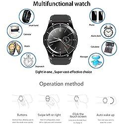 No.1 G8 Smartwatch Bluetooth 4.0 MTK2502 Reloj Deportivo recordatorio de Mensaje SIM Monitor de Ritmo cardíaco para Android iOS