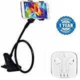 Captcha Flexible Mobile Holder With Snake Style Stand with Top Selling 3.5MM Earpods Handsfree(1 Year Warranty)