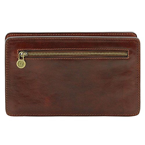 Tuscany Leather Denis - Esclusivo borsello a mano in pelle - TL141445 (Nero) Testa di Moro