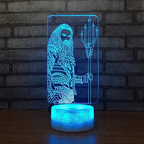 Zcmzcm 3D Nachtlichter Superheld Kreative Geschenk 3D Licht Nacht Acryl Touch Switch Weiße Basis Niedlich 7 Farbkonvertierung Led-Leuchten