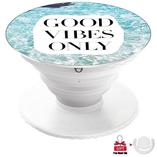 NEWFALI Cell Phone Stand/Holder/support/Mount for iPad/Car/Cell Phone /GPS iPhone Stand-Sunny Beach Good Vibes Only