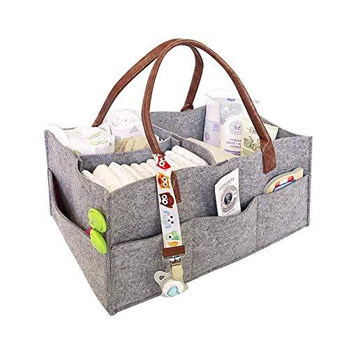 109aacfe12 Jeerui Feutre bébé sac à langer bébé couches stockage panier sandwich sac  de rangement sac à