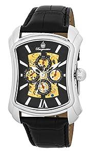 Reloj de caballero Burgmeister Wisconsin BM113-122 automático, correa de piel color negro de Burgmeister